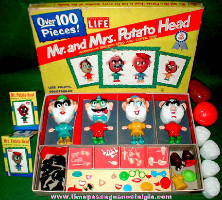 Old Boxed Mr. & Mrs. Potatohead And Family Kit