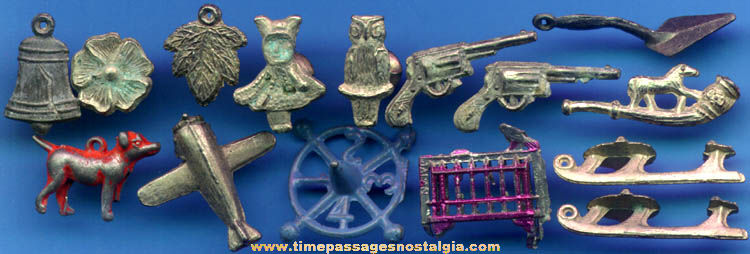 (15) Old Pot Metal Or Lead Cracker Jack Prizes