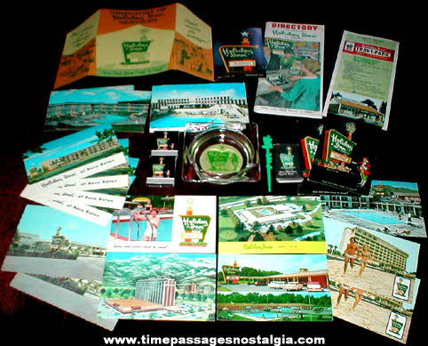(27) Old Holiday Inn Hotel Advertising Items