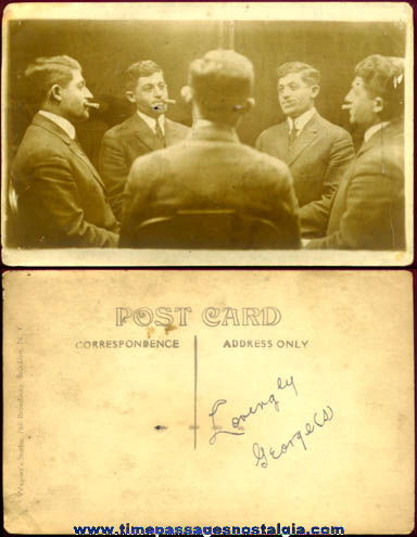Old Unusual Multi Image Real Photo Post Card