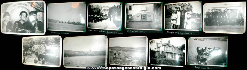 "World War II Photo Album With (36) 5"" x 7"" Photographs"