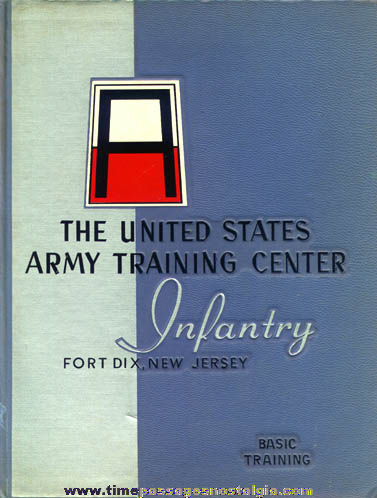 1959 United States Army Fort Dix, New Jersey Infantry Basic Training Book