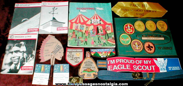 (20) Old Boy Scout Related Items