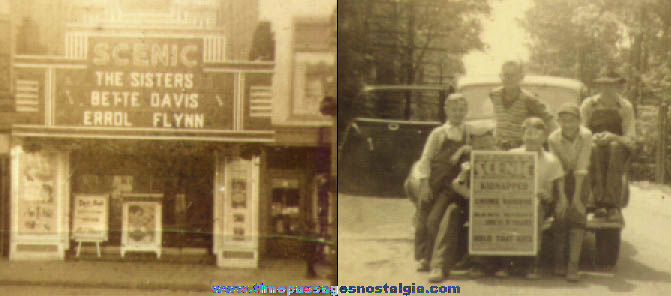 (7) Tiny Old Rochester, New Hampshire Scenic Theatre Photographs