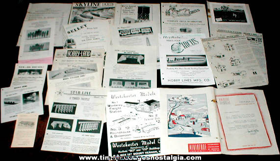 (21) Old Model Railroad Paper Items