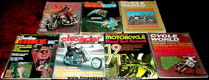(7) Different 1970's Motorcycle Magazines