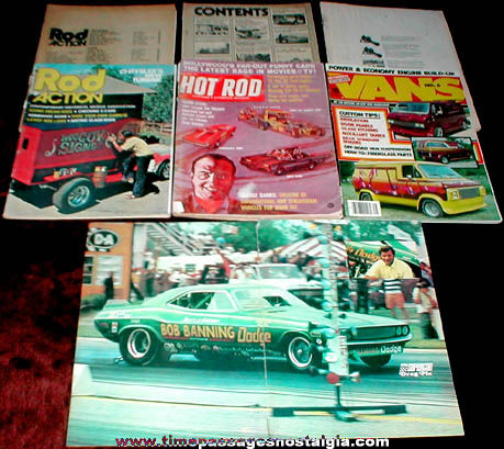 (6) Different Old Hot Rod Magazines Plus Bonus Poster