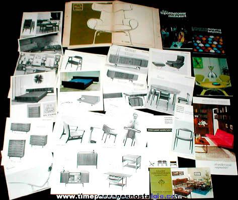 (24) Old Danish Modern Furniture Booklets