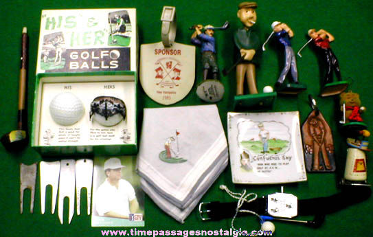 (20) Different Golf Related Items
