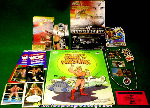 (20) Wrestling Related Items