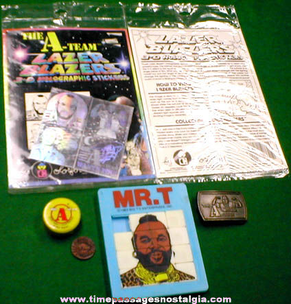 (6) �1983 Mr. T / A-Team Items