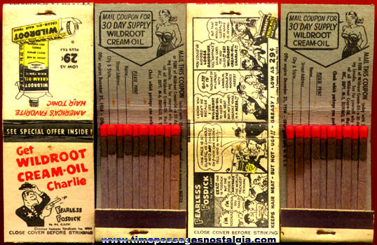 (10) Unused 1954 Al Capp / Fearless Fosdick Advertising Match Pack Covers