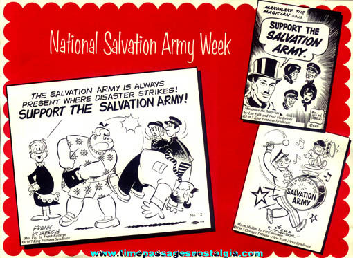 �1967 Comic Strip Character Salvation Army Placemat