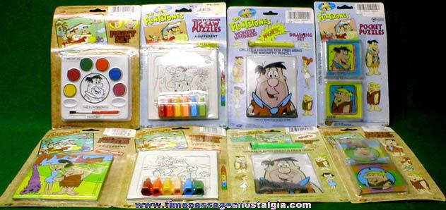 (8) Unopened Flintstones Character Toys, Games, & Puzzles