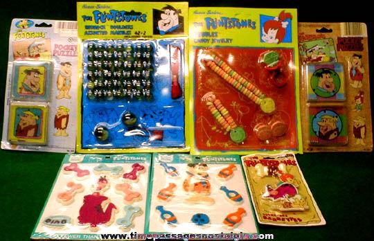 (7) Unopened Flintstones Character Toys, Games, & Puzzles
