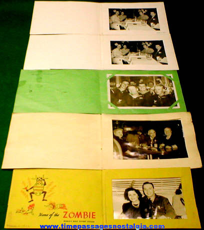 (5) Old Souvenir Photographs With Folders