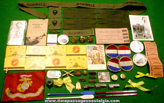 (62) Small Old U.S. Military Related Items
