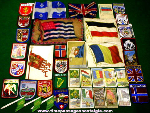 (40) Different Small Old Flag Items