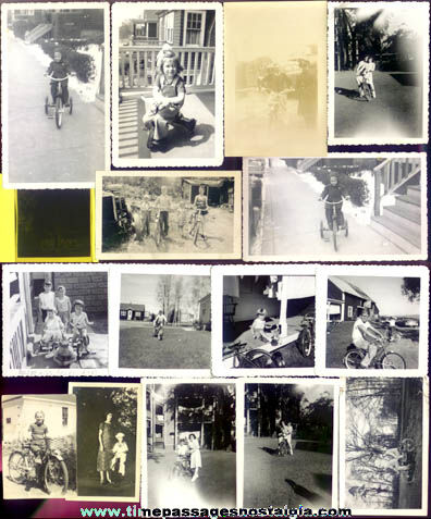 (15) Different Old Bicycle Photographs