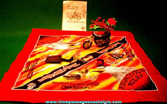 (12) Harley Davidson Motorcycle Advertising Items