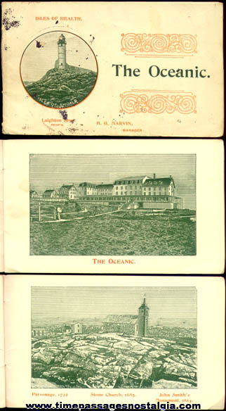 Small Old Oceanic Hotel / Isle Of Shoals Advertising Booklet