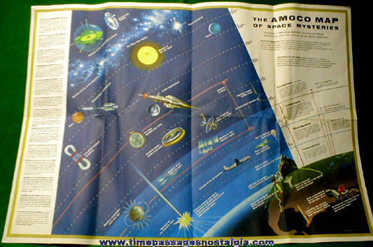 "�1958 American Oil Company ""Venture Into Space"" Premium Map"