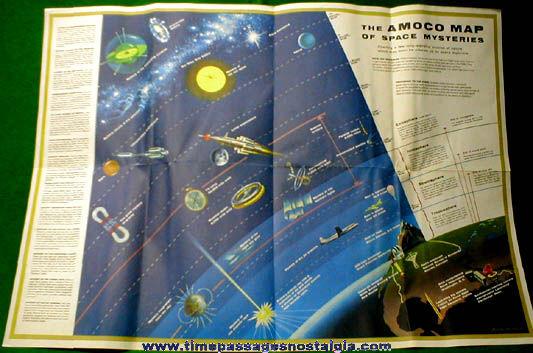 """©1958 American Oil Company """"Venture Into Space"""" Premium Map"""