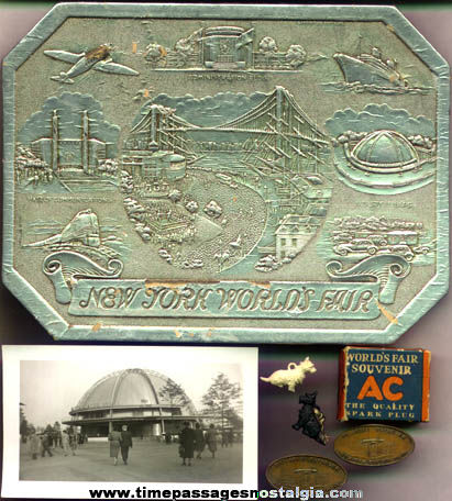 (7) 1939 -1940 New York World's Fair Items