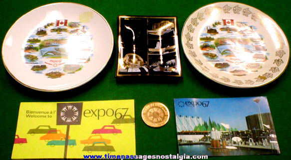 (6) 1967 Montreal Exposition Items