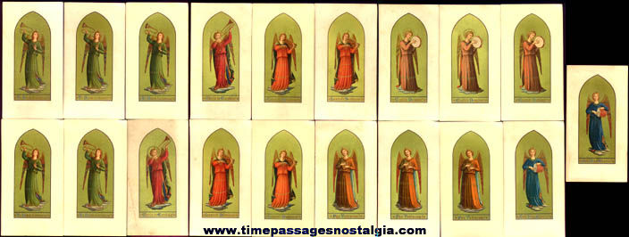(19) Old Musician Angel Religious Cards