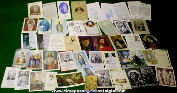 (50) 1890s - 1990s Christian / Catholic Religious Cards And Brochures