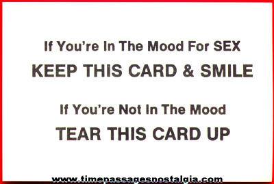 (15) Sex Joke Cards