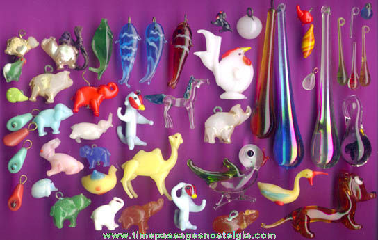 (50) Miniature Glass Figures and Charms