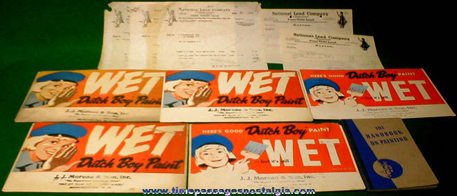 (11) Old Dutch Boy Paint Paper Advertising Items