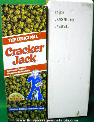 ©1997 Boxed Cracker Jack Baseball Doll With All Accessories