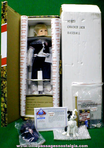 �1997 Boxed Cracker Jack Baseball Doll With All Accessories