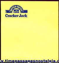 Unused 1990s Butter Toffee Cracker Jack Advertising Post-It Note Pad