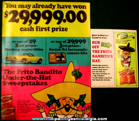 (2) ©1968 Frito-Lay Frito Bandito Magazine Advertisments