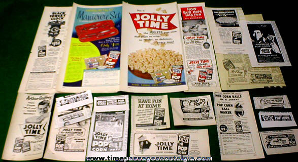 (20) Different Old Jolly Time Popcorn Advertisements