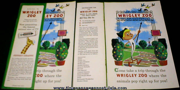 (2) Different Old Wrigley's Chewing Gum Pop-Up Magazine Advertisements