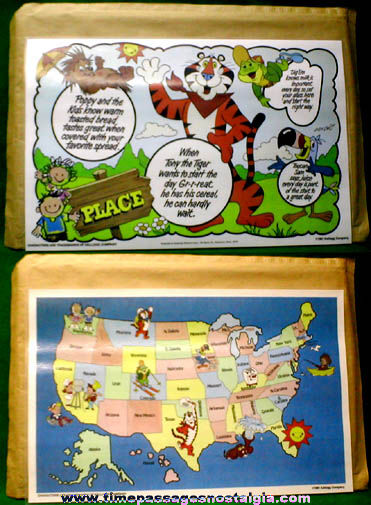 Large ©1981 Kellogg's Cereal Character Mail Away Premium Table Placemat