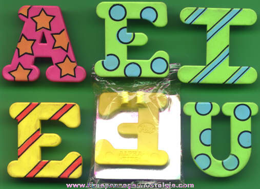 (6) Post Alpha-bits Cereal Pencil Clip Letter Prizes
