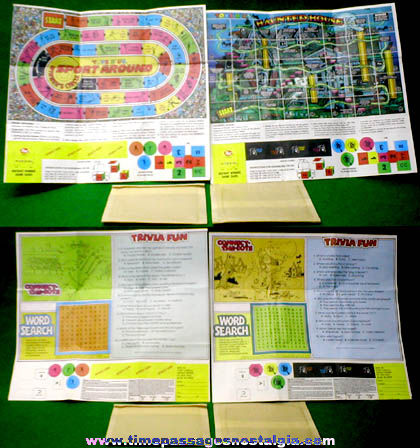 (2) 1986 Post Cereals / Toys 'R' Us Prize Game Sheets