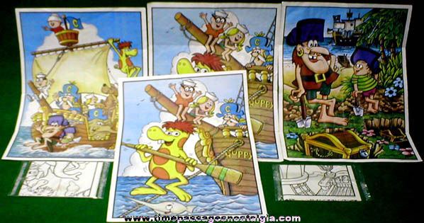 (6) ©1981 Cap'n Crunch Cereal Prize Posters