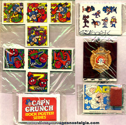 (6) Different Unopened Cap'n Crunch Cereal Prizes