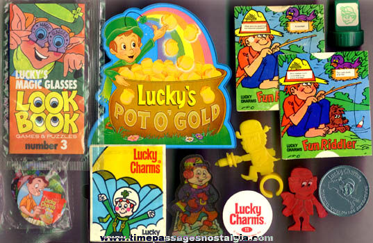 (15) Lucky Charms Cereal Lucky Leprechaun Items