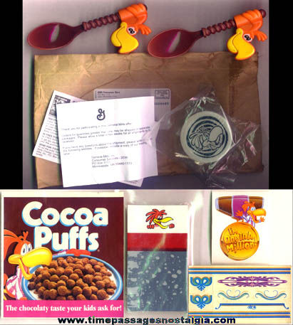 (7) Cocoa Puffs Cereal Sonny Coco Bird Items