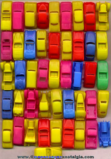 (46) Old Soft Plastic Toy Cars