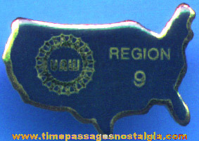 (50) Old Metal United Auto Workers Member Pins