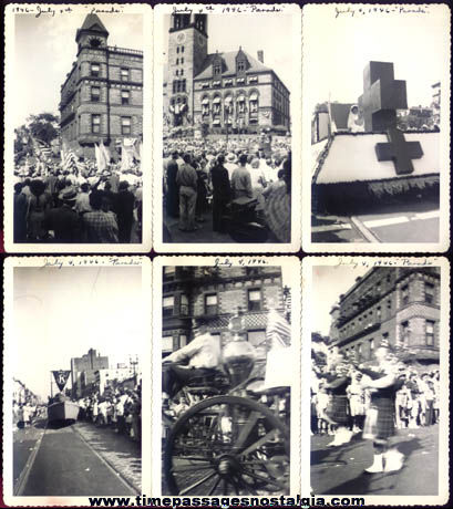 (6) 1946 Fourth Of July Parade Black & White Photographs
